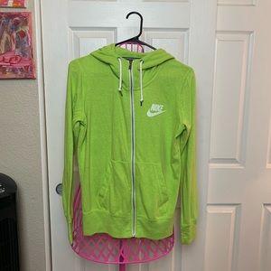 Lime green Nike Hoodie